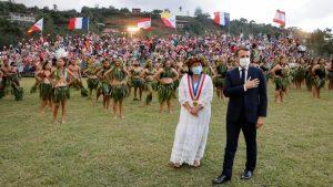 Emmanuel Macron in Marquesas, French Polynesia