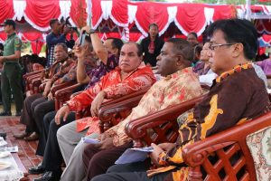 Political and church leaders at Manokwari celebrate the 160th anniversary of the arrival of Christianity